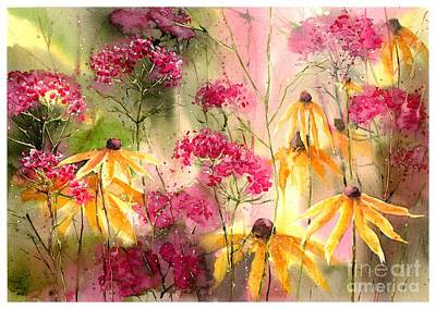 Orchid Wall Art - Painting - Yellow Ballerinas by Suzann's Art