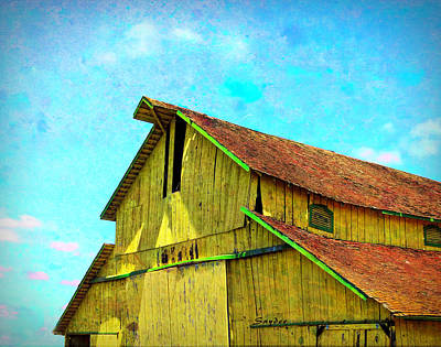 Photograph - Yellow Barn Nipomo California by Floyd Snyder