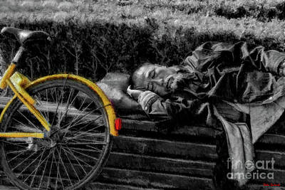 Photograph - Yellow Bike Nap by Blake Richards
