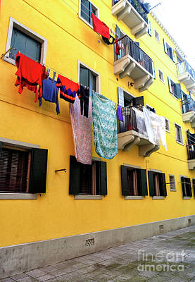 Photograph - Yellow Building In Venice by John Rizzuto