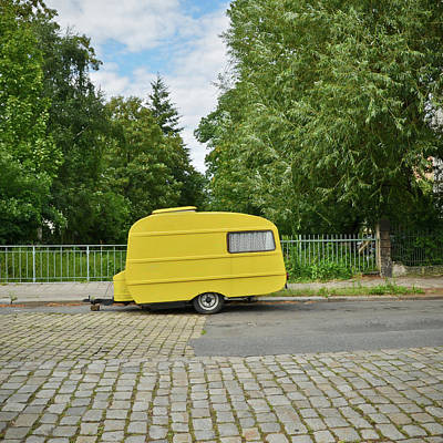 Photograph - Yellow Camper by Gabriele Kappes