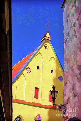 Truck Art - Yellow Church by Rick Bragan