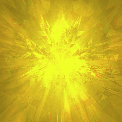 Digital Art - Yellow Crystal by Barry Costa