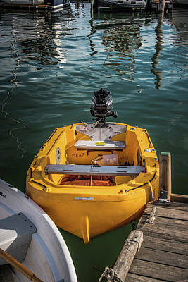 Photograph - Yellow Dinghy by Guy Whiteley