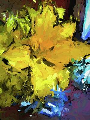 Painting - Yellow Flower And The Eggplant Floor by Jackie VanO