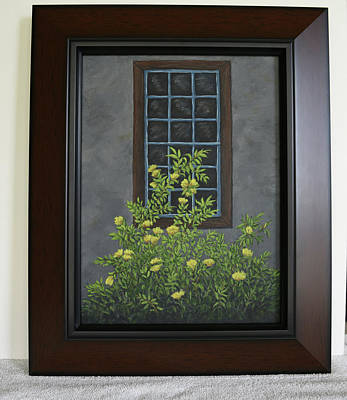 Painting - Yellow Flowers By Window by Gloria Johnson
