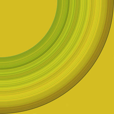 Digital Art - Yellow Green Brown by Cosmina Lefanto