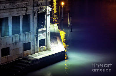 Photograph - Yellow Light On The Grand Canal Venice by John Rizzuto