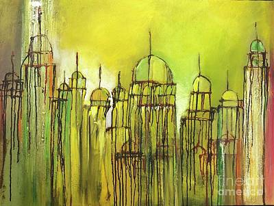 Painting - Yellow Mosque  by Nizar MacNojia
