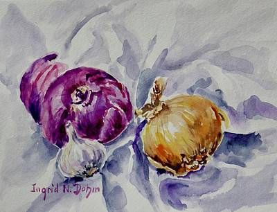 Painting - Yellow Onion by Ingrid Dohm