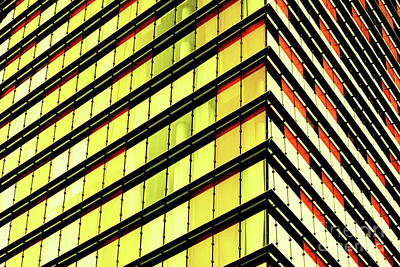 Photograph - Yellow Orange Architectural Stripes by Toula Mavridou-Messer