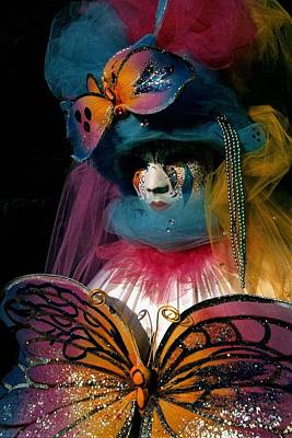 Photograph - Yellow Pink Blue Butterfly by Donna Corless