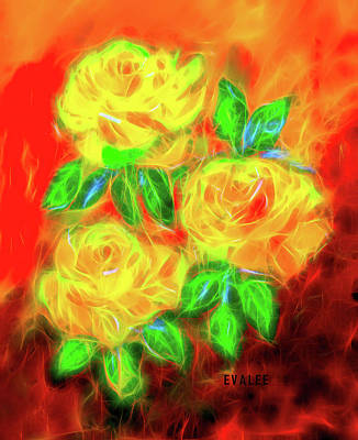 Photograph - Yellow Roses By Evalee by Evalee Victorino
