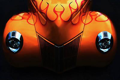 Photograph - Orange Street Rod by Bill Jonscher