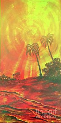 Painting - Yellow Sun by Michael Silbaugh