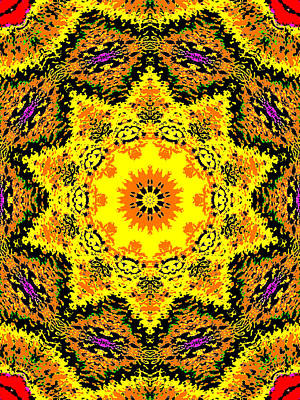 Digital Art - Yellow Sunflower 1c by Artist Dot