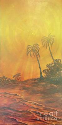 Painting - Yellow Sunset by Michael Silbaugh