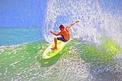 Photograph - Yellow Surf Board by Alice Gipson