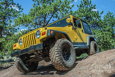Photograph - Yellow Tj Wrangler by Tony Baca