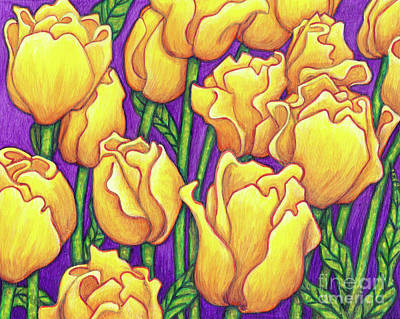 Painting - Yellow Tulips by Amy E Fraser