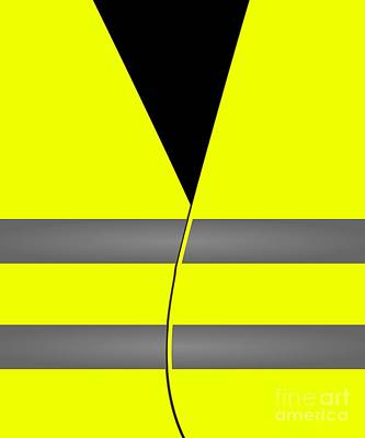 Digital Art - Yellow Vest Protest Costume by Flippin Sweet Gear