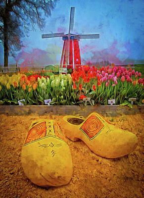 Yellow Wooden Shoes Art Print