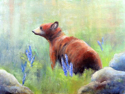 Painting - Yellowstone Black Bear by Marsha Karle