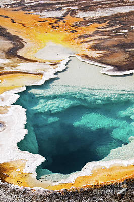 Sapphire Wall Art - Photograph - Yellowstone Hot Spring Vertical by Delphimages Photo Creations