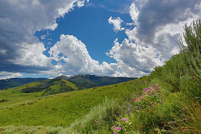 Photograph - Yellowstone Landscape  with clouds by Don Johnston