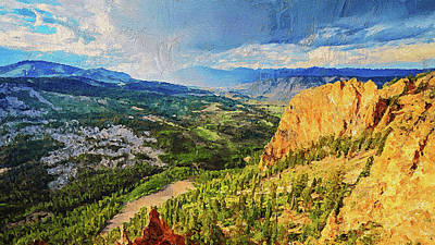 Painting - Yellowstone National Park - 01 by Andrea Mazzocchetti