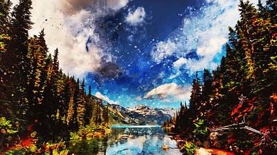 Painting - Yellowstone National Park - 04 by Andrea Mazzocchetti