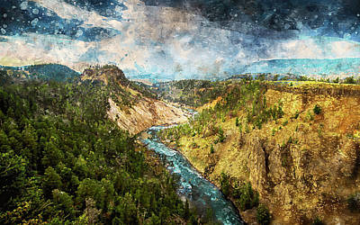 Painting - Yellowstone National Park - 05 by Andrea Mazzocchetti