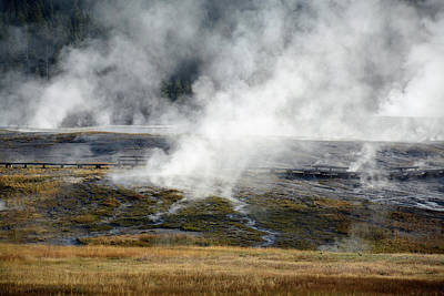 Photograph - Yellowstone Steam 02 by Bruce Gourley