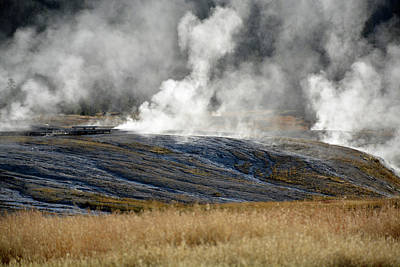 Photograph - Yellowstone Steam by Bruce Gourley