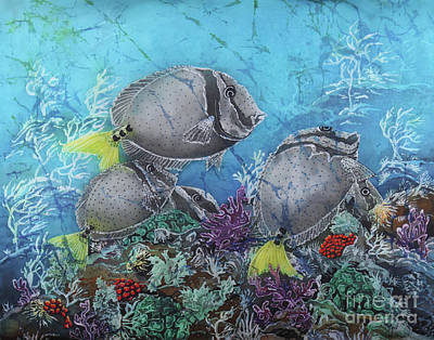 Painting - Yellowtail Surgeonfish by Sue Duda