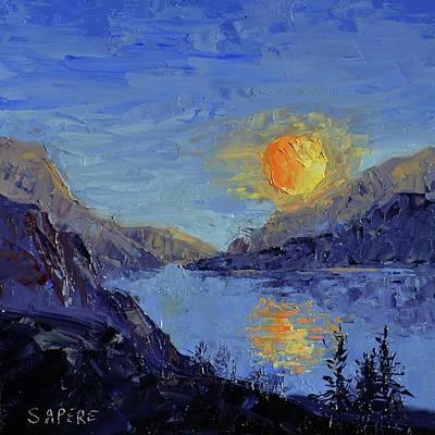 Lynee Sapere Wall Art - Painting - Yin Yang Moon by Lynee Sapere