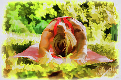 Painting - Yoga A18-105 by Ray Shrewsberry