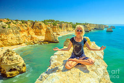 Photograph - Yoga In Algarve Coast by Benny Marty