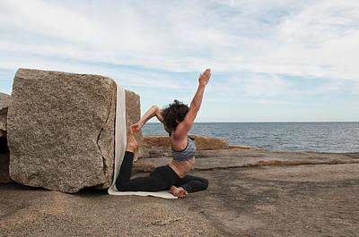 Hand Photograph - Yoga Instructor Demos Eka Pada Raja by Jeff Rotman