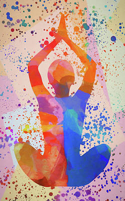 Painting - Yoga Stretch by Dan Sproul