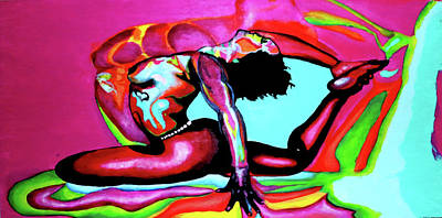 Painting - Yoga With Pintsize  by D Justin Johns