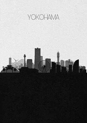 Digital Art - Yokohama Cityscape Art by Inspirowl Design