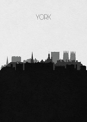 Digital Art - York Cityscape Art by Inspirowl Design