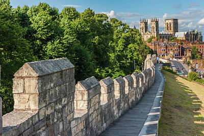 Photograph - York Minster and City Walls by David Ross