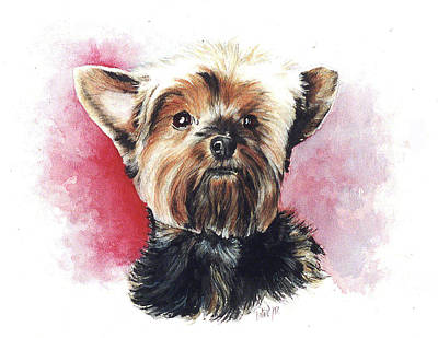 Painting - Yorkie Hero by Patrice Clarkson