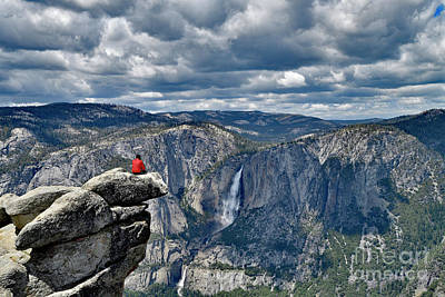 Photograph - Yosemite Fall View From Glacier Point by Bipul Haldar