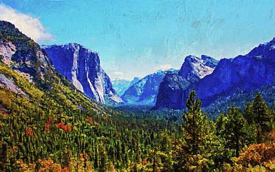 Painting - Yosemite National Park - 01 by Andrea Mazzocchetti