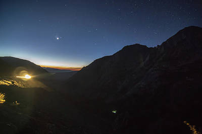 Photograph - Yosemite National Park Landscapes At Night Early Before Sunrise by Alex Grichenko