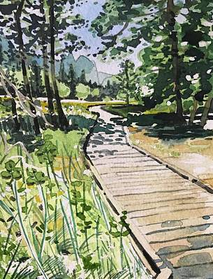 Water Droplets Sharon Johnstone - Yosemite Path by Luisa Millicent