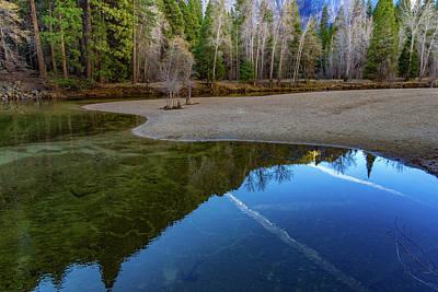 Wall Art - Photograph - Yosemite Plane Trails Reflections by Roslyn Wilkins